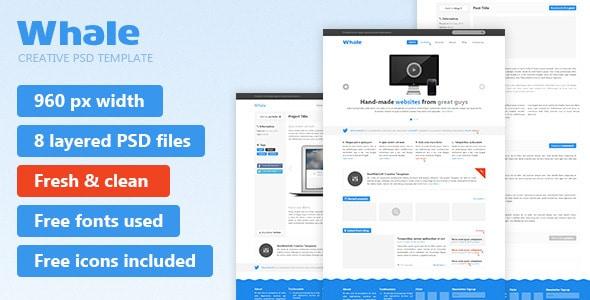 Whale - Creative PSD Template