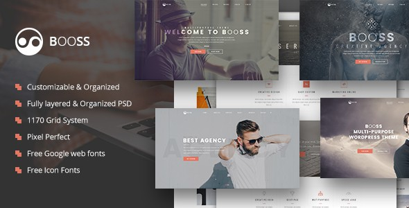 Booss | Creative Multipurpose Marketing PSD Template