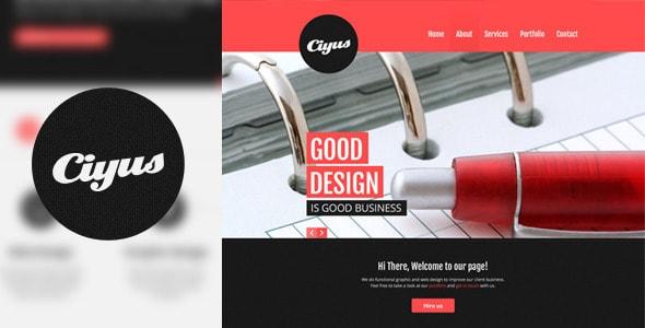 Ciyus - Single Page Portfolio