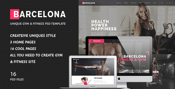 Fitness & Healthy Center PSD Template - Barcelona
