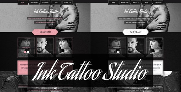 Ink Tattoo Studio -  One Page Portfolio Template
