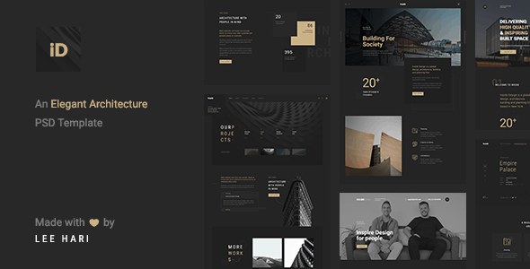 Inside - An Elegant Architecture PSD Template