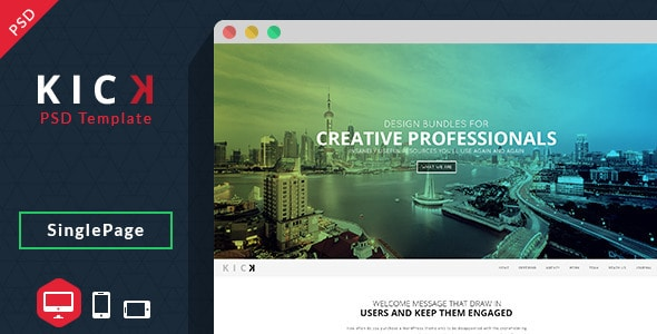 Kick-PSD Template