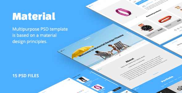 Material PSD template
