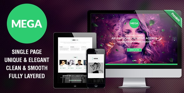 MEGA - Single Page Premium Theme