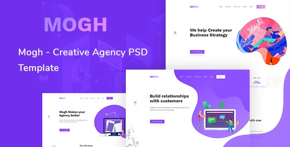 Mogh  - Creative Agency &  Multipurpose PSD Template