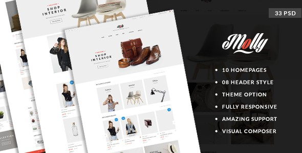 Molly - Elegant & Clean PSD Template