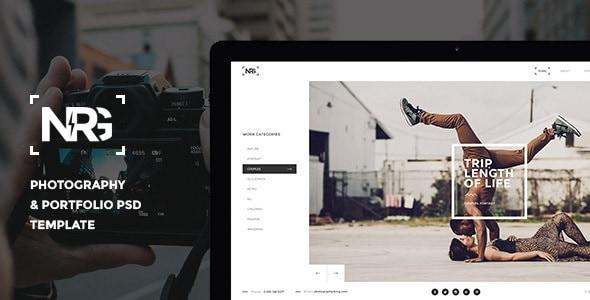 NRGphotography - Premium Photography PSD Template