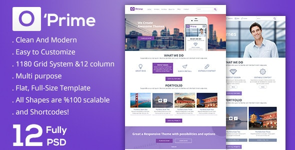 O'prime-Multi Purpose PSD Template