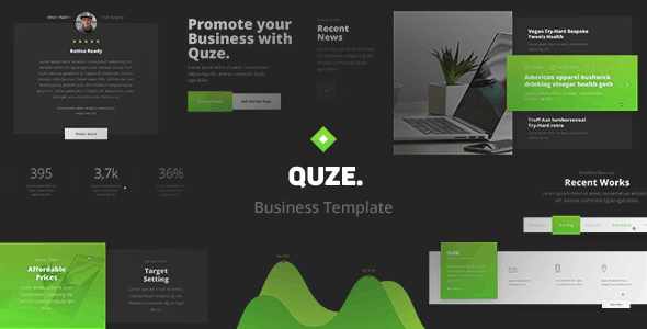 QUZE. — Business PSD Template