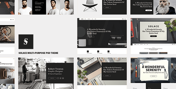 Solace - Multi-Concept PSD Template