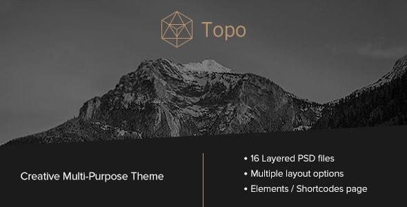 Topo | Multi-Purpose PSD Theme