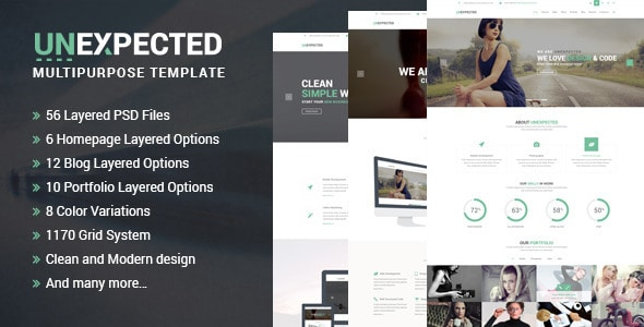 Unexpected Multipurpose PSD Template