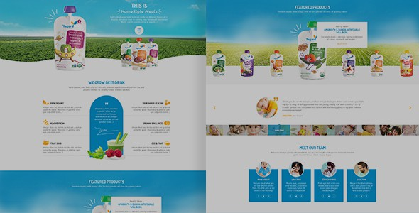 Yogurd - Psd Template