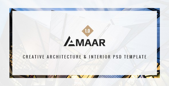 Amaar | Creative Architecture & Interior PSD Template