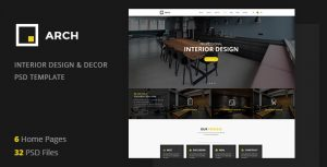 Arch Decor - Interior Design, Architecture and Building Business PSD Template