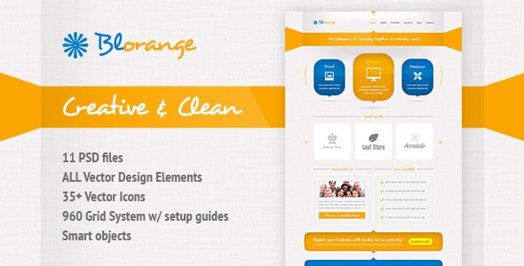 Blorange Multipurpose Creative Template