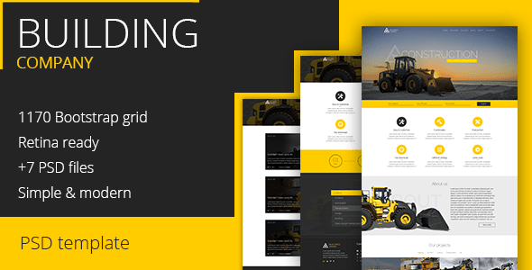 Construction Company - PSD Template