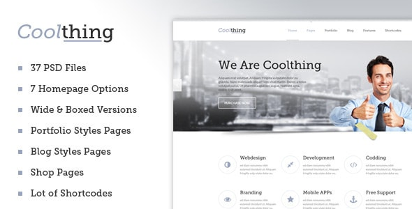 Coolthing - Clean PSD Template