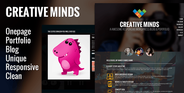 Creative Minds - One Page Portfolio Template