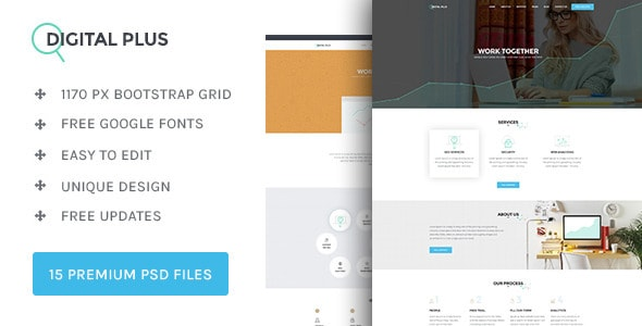 Digital Plus - SEO/Marketing PSD template