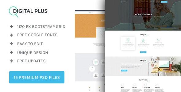 Digital Plus - SEO/Marketing PSD template