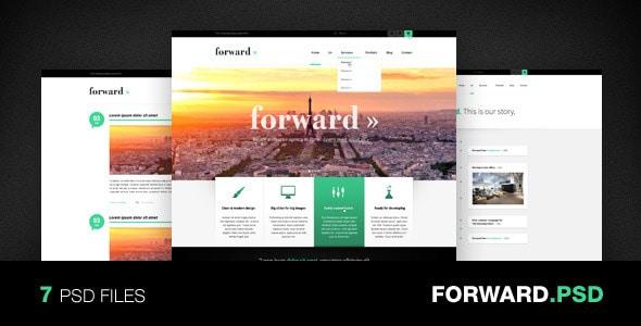 Forward - Creative PSD Template