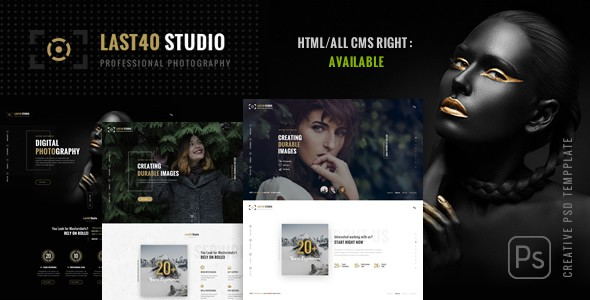 Last40 Studio - Creative PSD Template