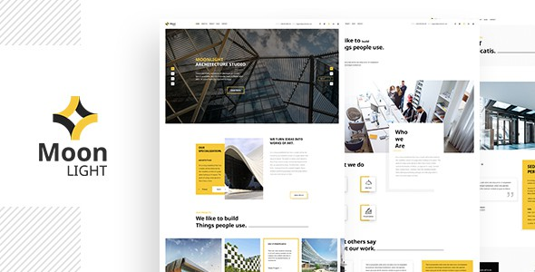 Moonlight - Architecture, Decor & Interior Design PSD Template