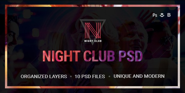 Night Club - Event, DJ, Party, Music Club PSD Template