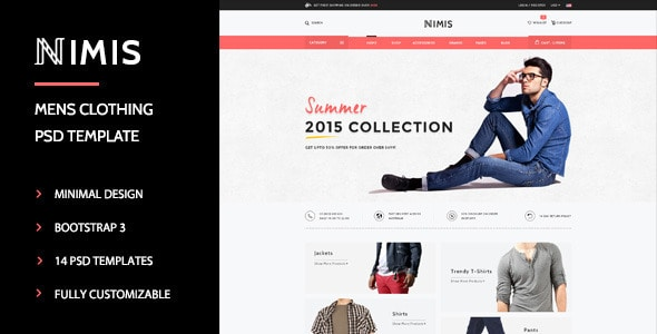 Nimis - eCommerce, Online Shop PSD Template