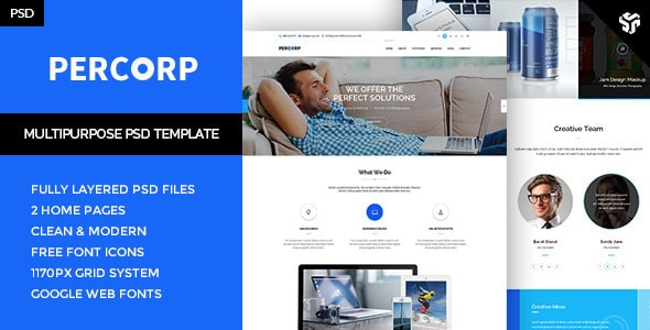 PerCorp - Multi-Purpose PSD Template