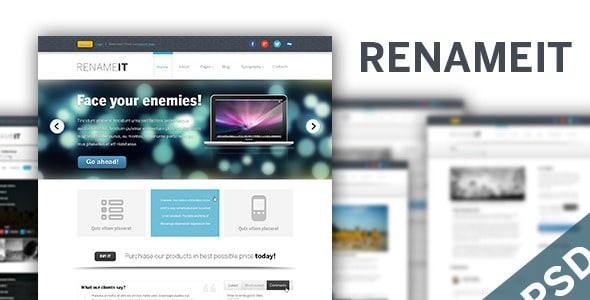 Renameit - Light PSD Template