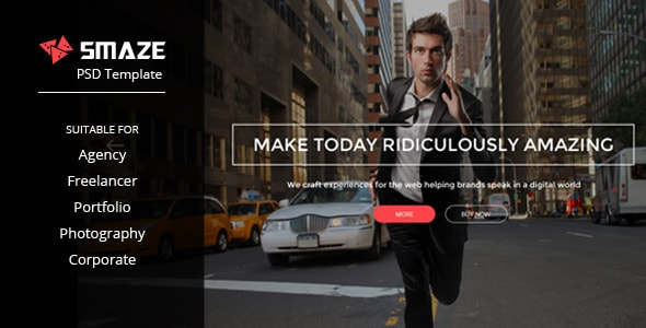 Smaze | Multi-purpose PSD Template
