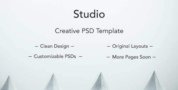 Studio Clean PSD Template