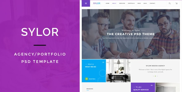 Sylor - Agency/Portfolio PSD Template