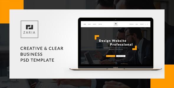 Zaria - A Beautiful & Smart Business PSD