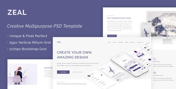 Zeal - Creative Multi Purpose PSD Template