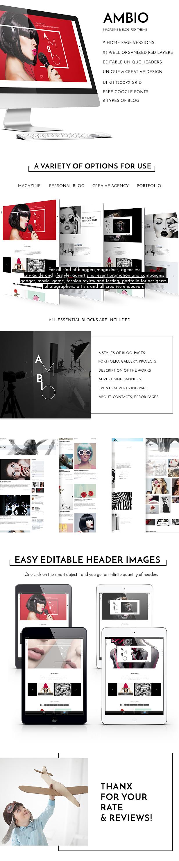 Ambio — Unique Personal Blog   Magazine PSD Theme - 2
