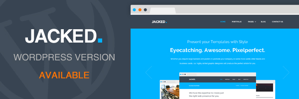 Jacked - Creative PSD Template - 1
