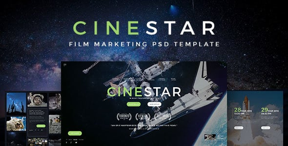 CINESTAR - Film Marketing PSD Template