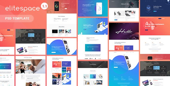 Elitespace - Creative Multi-Purpose PSD Templates