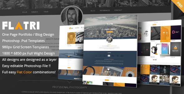 Flatri - OnePage Portfolio Template
