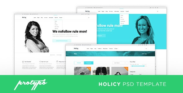 Holicy Business PSD Template