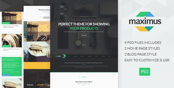 Maximus - One Page PSD Template