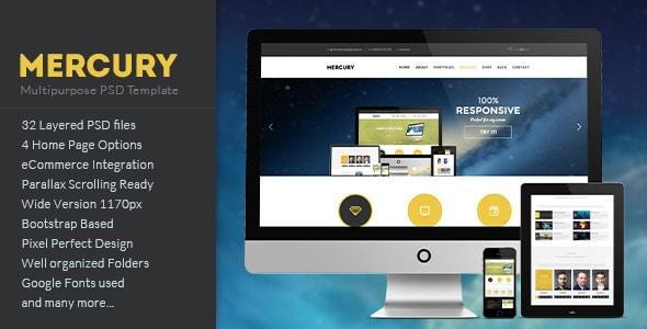 MERCURY - Multipurpose PSD Template