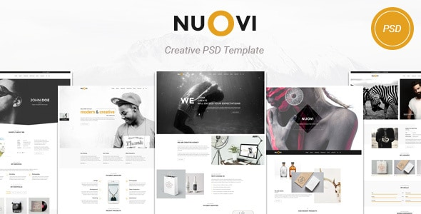 Nuovi - Creative Agency/Personal PSD Template