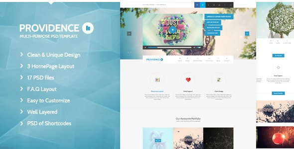 Providence - Multi Purpose PSD Template