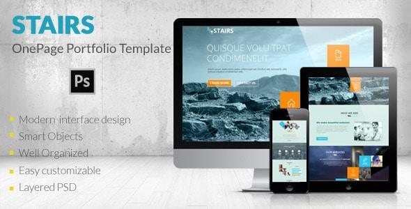 Stairs - OnePage Portfolio Template
