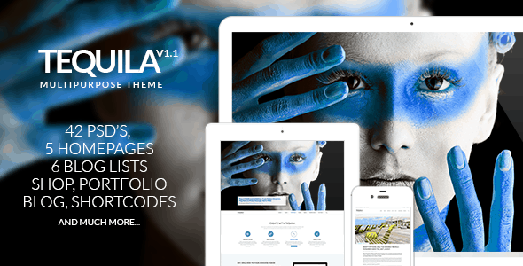 TEQUILA – Multi-Purpose PSD Template